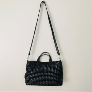 Hobo Black Basket Weave Purse